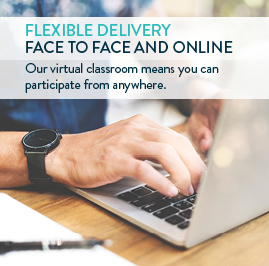 Face to face and online training available